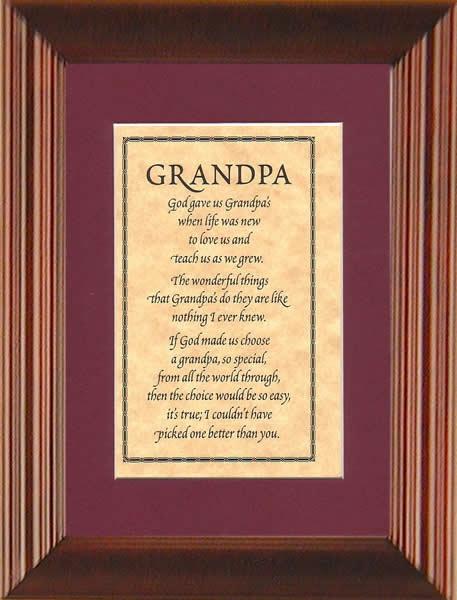 Google Image Result --Grandpa poem