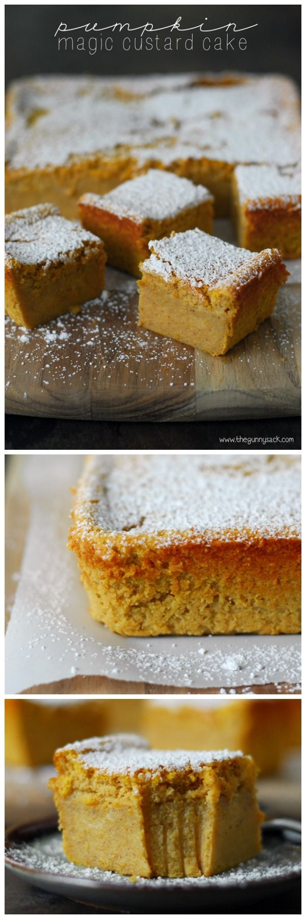 This Pumpkin Magic Custard Cake recipe is like pumpkin pie without the crust. It has a smooth custard layer topped with light, airy cake. Try it for Easter dinner!