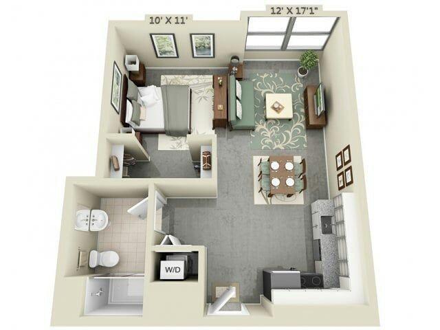 Ada Yang Berencana Bikin Rumah Kecil Kayak Gini Credit Apartment Layout Studio Apartment Floor Plans Apartment Floor Plans