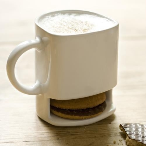 Coffee Mug With Cookie Slot