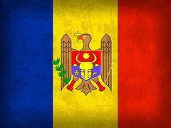 Moldova Flag Art - Moldova Flag Vintage Distressed Finish by Design Turnpike