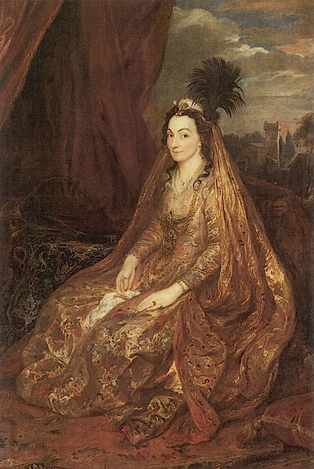 ca. 1622 Lady Elizabeth or Theresa Shirley in oriental clothing by Sir Anthonis van Dyck (Petwoth House - Sussex UK)