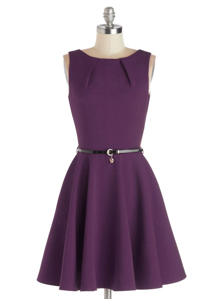 Work Appropriate Styles in Plus Sizes - Luck Be a Lady Dress in Violet