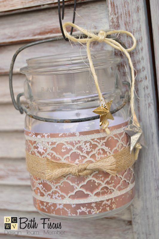 Beth's Beauties: Mercury Glass Luminary Tutorial  Supplies available Hobby Lobby! #dcvw #dcwvinc