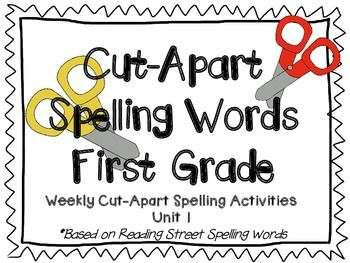48 best reading street grade 1 images on pinterest reading street cut apart spelling words are great for helping childr their spformatudents will1 fandeluxe Images