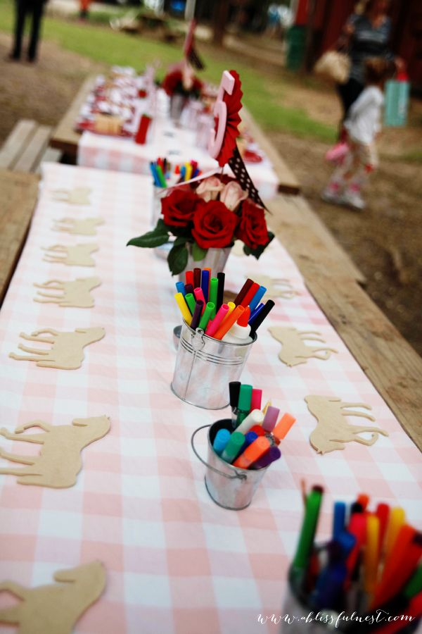 This horse party is a little bit out of control (who needs a budget?!) but I like this craft idea