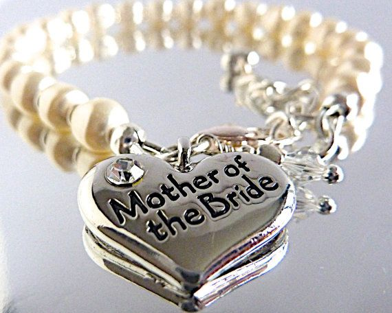 Mother of the Bride / Groom Bracelet with by angelsjewelsUK