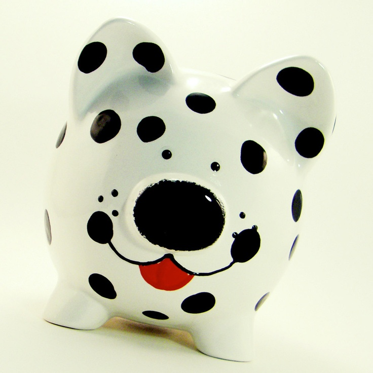 Dalmatian puppy-piggy  bank