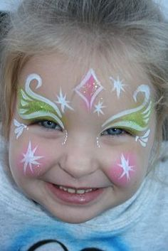 Frozen princess face paint