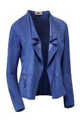 Ibana Rouge suède jasje Cobalt blauw.