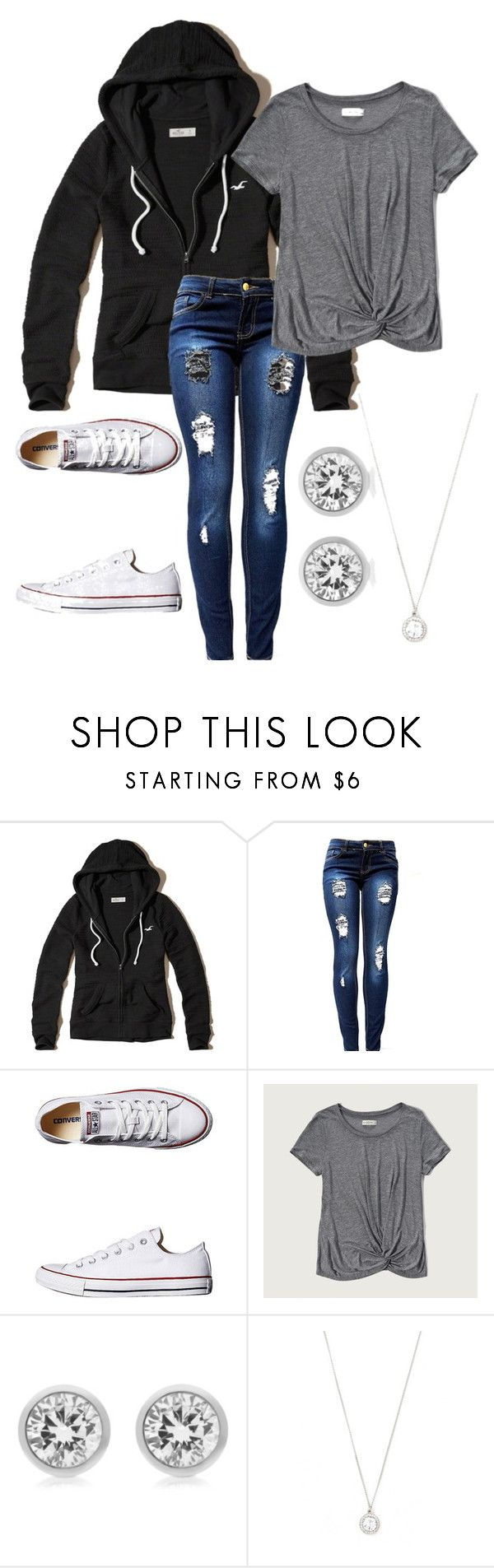 """3/31/2017"" by softball100 on Polyvore featuring Hollister Co., Converse, Abercrombie & Fitch, Michael Kors and Forever 21"