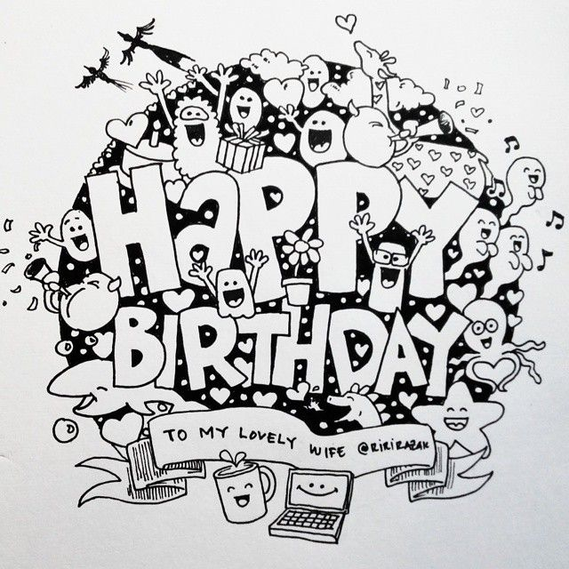 doodle happy birthday - Google Search | Doodles in 2019 ...