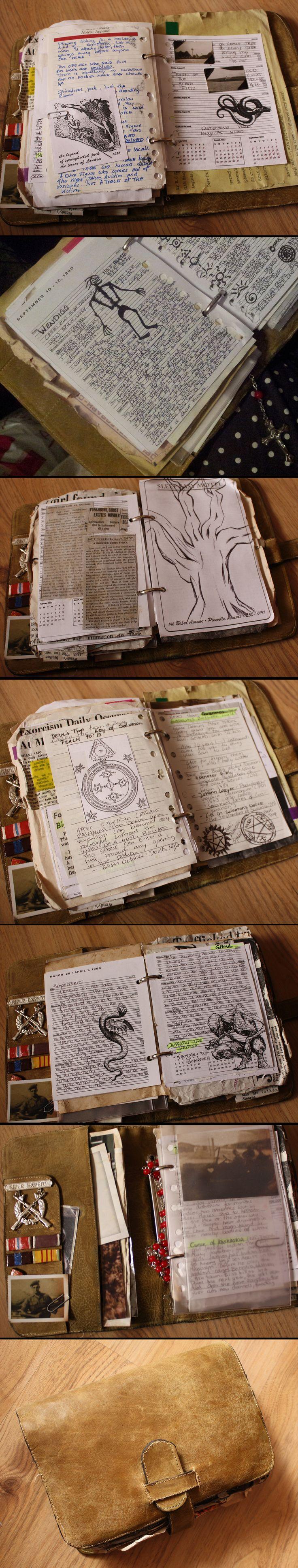 SPN: John's Journal by Magoro on deviantART. Me wants.
