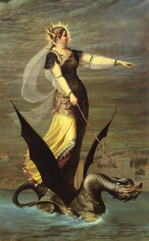 La Tarrasque [1874]  by Charles Lepec The Tarrasque was a legendary dragon from Provence (southern France) tamed in. Story about Saint Martha