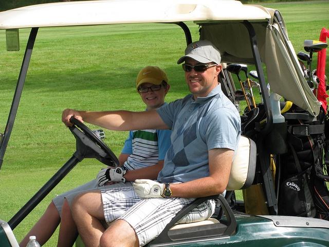 Enjoying the sun at the Huntsville Golf Tournament