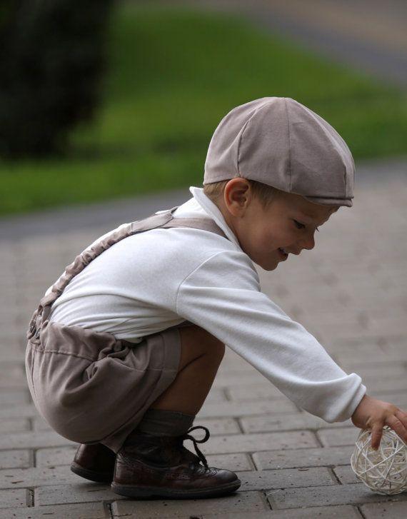 Garçons plat chapeau chapeau bébé garçon chapeau plat anneau porteur casquette Gavroche Newsboy Cap Photo prop Toddler chapeau velours chapeau automne chapeau
