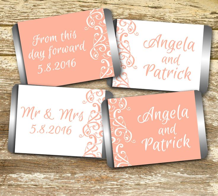 A personal favorite from my Etsy shop https://www.etsy.com/ca/listing/467372339/mini-candy-bar-wrapper-wedding-candy
