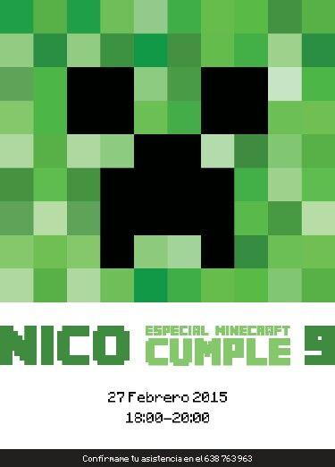 Invitación Minecraft - SCACERES