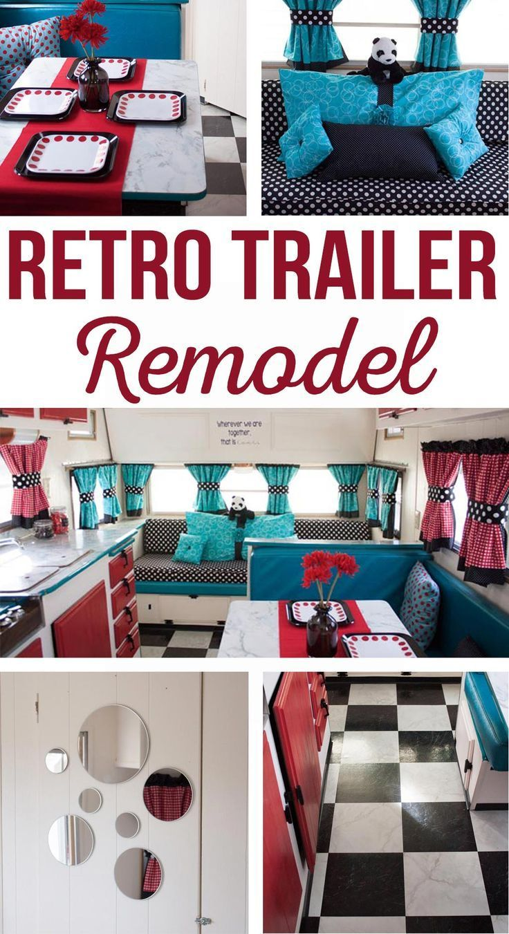 Vintage Trailer Remodel - Retro Trailer - This is SO cute! Love this glamper!! Retro Trailer Remodel