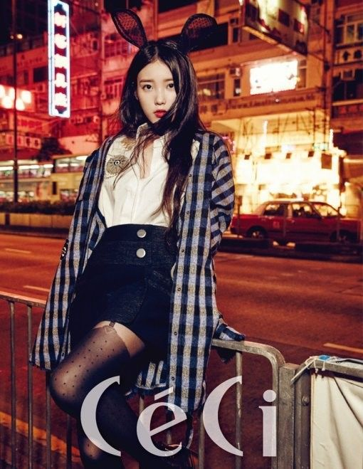 Singer and actress IUisthe cover girl for fashion magazine CeCi's 21st anniversary commemorative issue. The photo shoot brings out both IU's cute and wom