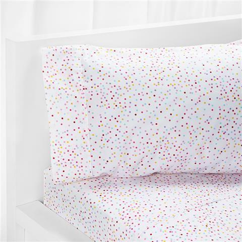 Single Bed Sheet Set - Confetti Print   Kmart
