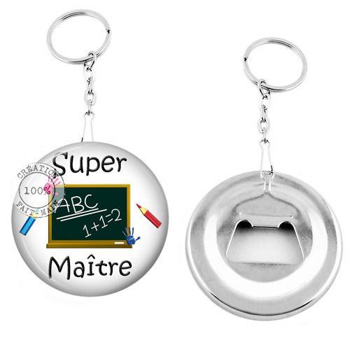 Porte clé décapsuleur / cadeau super maître : Porte clés par bijoux-martika-creation