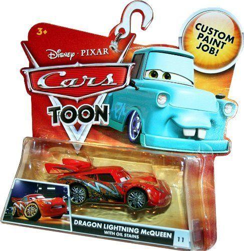 Disney / Pixar CARS TOON 155 Die Cast Car Dragon Lightning McQueen with Oil Spill by mattel. $42.77. #11 DRAGON LIGHTNING MCQUEEN WITH OIL STAINS. BRAND NEW RELEASE FROM DISNEY PIXAR CARS TOON TOKYO MATER STORY