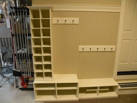 I'd love a mudroom, but there is no space in the house. If I can figure out how to get something like this in our garage, I would be happy.