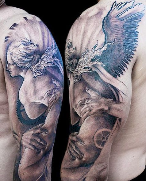 Realism Angel Tattoo By Jak Connolly