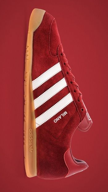 adidas Originals Milano: Red/White