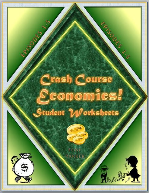 Teach with Insight and Humor using Crash Course Economics!  Episodes 1-5 cover topics such as microeconomics, macroeconomics, Karl Marx, Adam Smith, capitalism, socialism, free market economy, mixed economy, production possibilities frontier, economic model, absolute advantage, comparative advantage -- and these worksheets will keep students on task and learning!