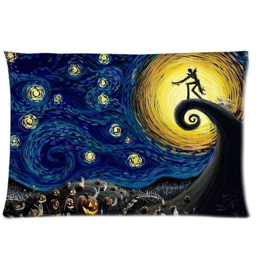 Nightmare Before Christmas Starry Night 2 Pillowcases