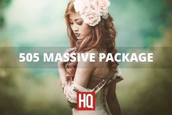 505 MASSIVE PACKAGE by HQ LIGHTROOM PRESETS on Creative Market
