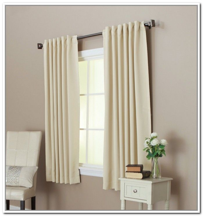 25 best short curtain rods ideas on pinterest round - Long or short curtains in living room ...