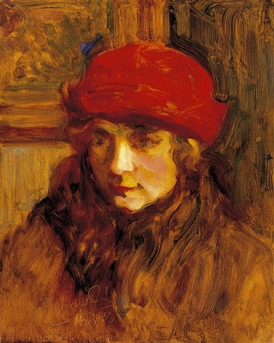 Red Hat Lady, Janos Thorma. Hungarian (1870 – 1937)