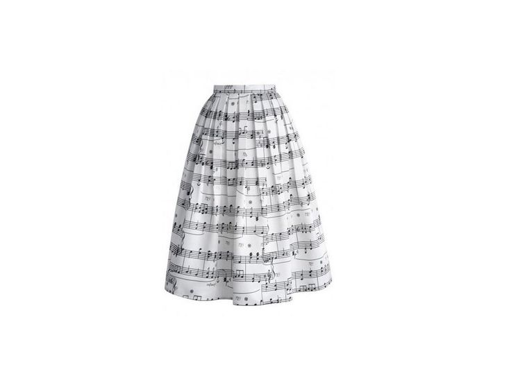 Saténová sukně s notami - HUDEBNIKUM.CZ