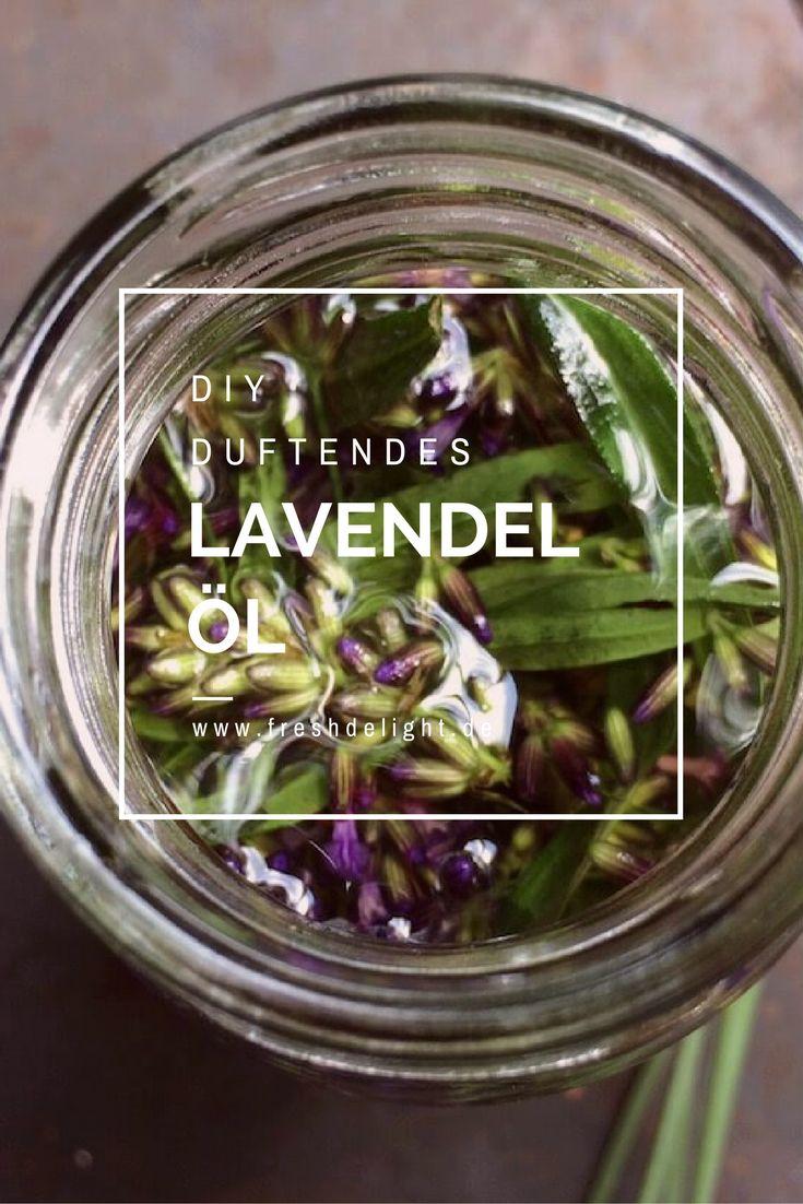 Duftendes Lavendelöl zur Massage/Entspannung einfach selbst hergestellt.