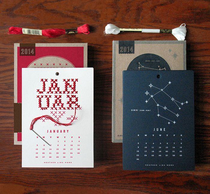 Stitch it Yourself CalendarKit - The Dieline -
