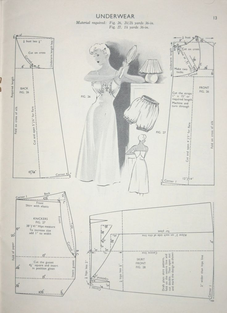 Slip and Bloomers Pattern Drafting