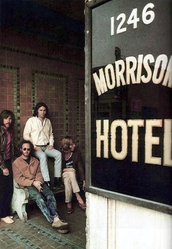 Morrison Hotel Photo Shoot, Morrison Hotel 1246 South Hope Street, Los Angeles CA, December 1969: Photo by Henry Diltz