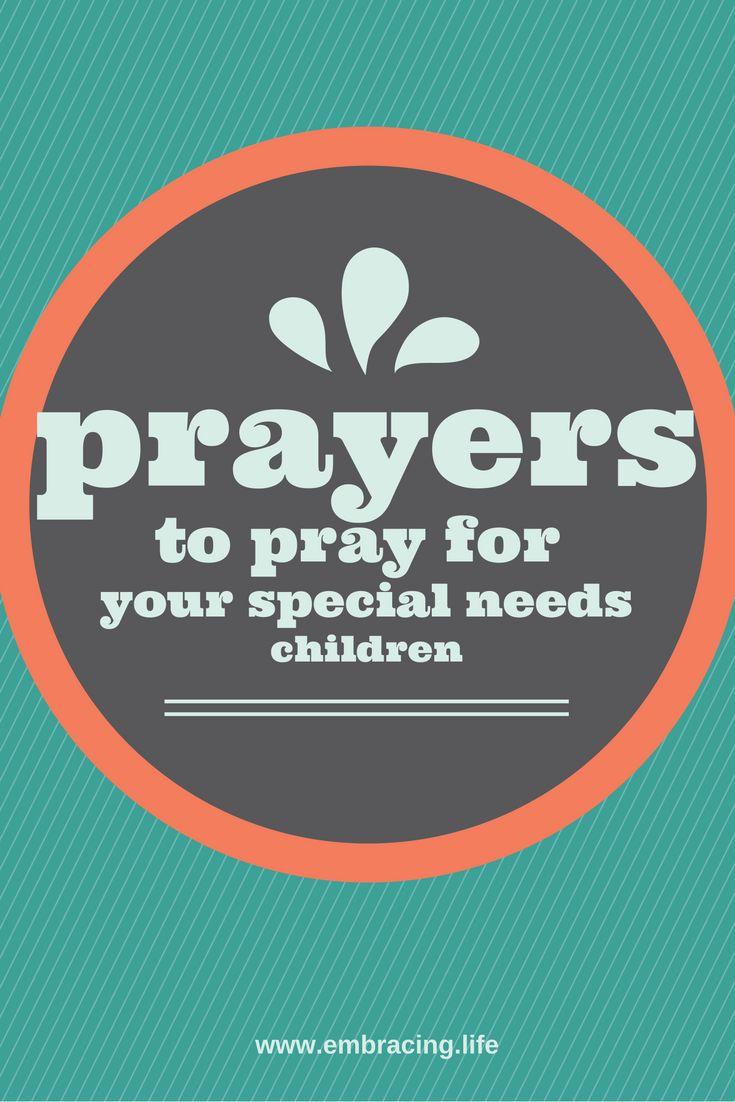 Prayers for special needs children
