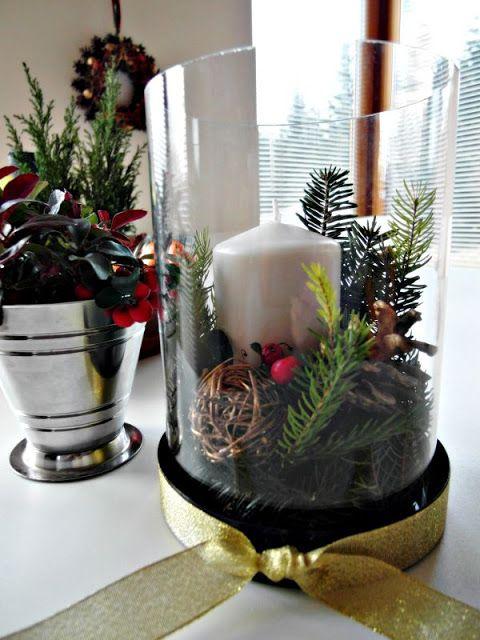 Christmas composition DIY; golteria, fir, spruce Kompozycja świąteczna