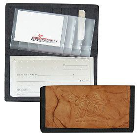 Greg Biffle Leather/Nylon Embossed Checkbook Cover