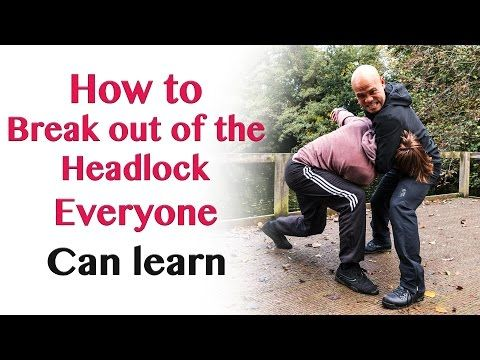 how to get out of a headlock - YouTube
