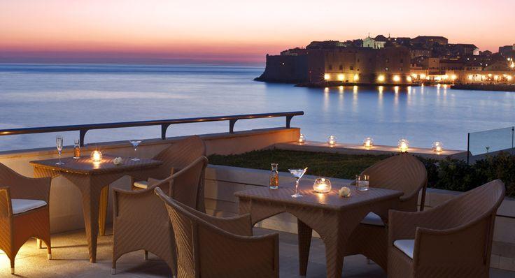 Terrace of the Hotel Excelsior Dubrovnik