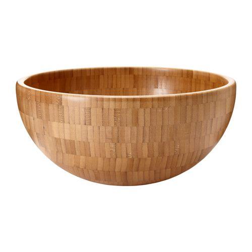IKEA - BLANDA MATT, Serveringsskål, Gjord av bambu som är ett lättskött och slitstarkt naturmaterial.Serveringsskålarna i serien BLANDA finns i flera olika material och storlekar - kombinera efter smak och behov.Stapla de mindre storlekarna i de större i samma serie, för att spara plats när de inte används.
