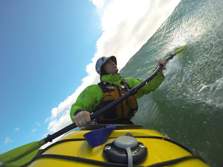 Sea Kayak surf at Forestry NZ, in Barracuda Beachcomber