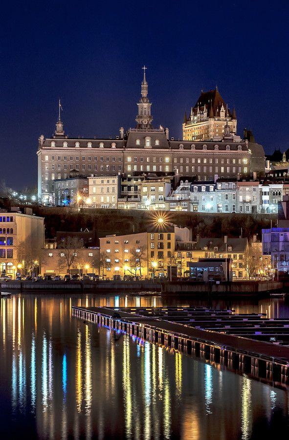 Rew Elliott: City at Night, City of Light: ...Fairmont Le Chateau Frontenac, Quebec, Canada...