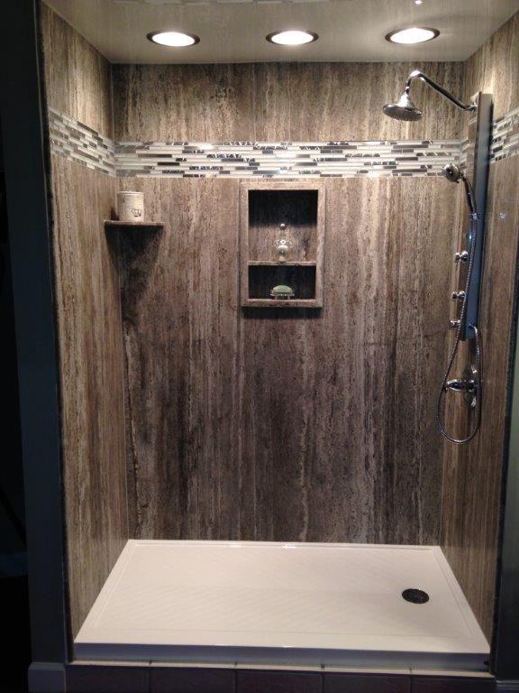 Silver Vein Cut Shower Display By Rebath Ky