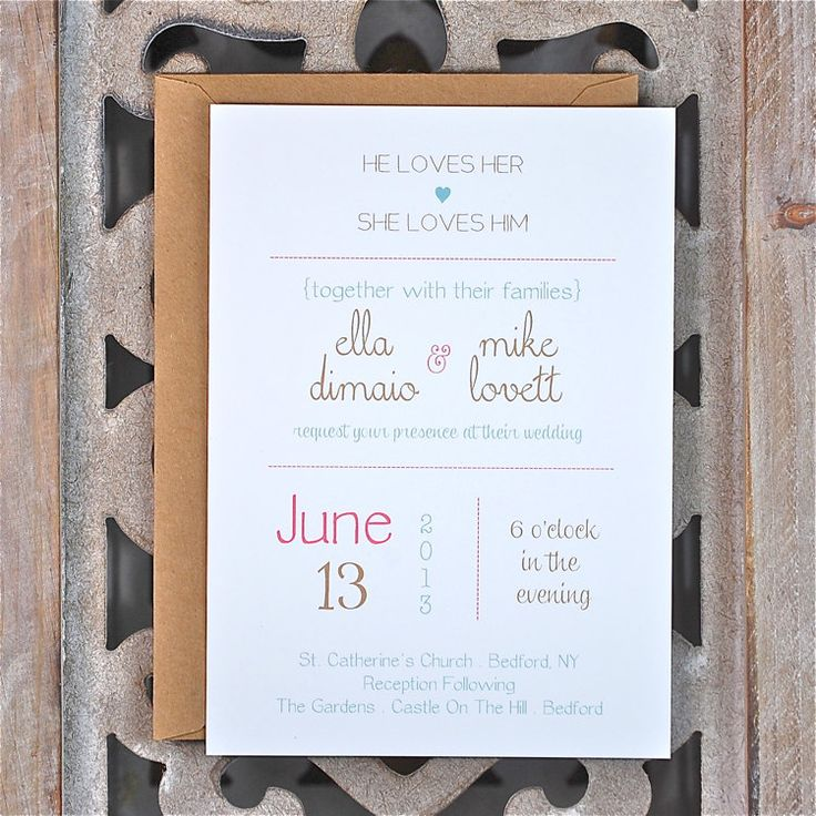 Wedding Invitations Type Wedding Invitations